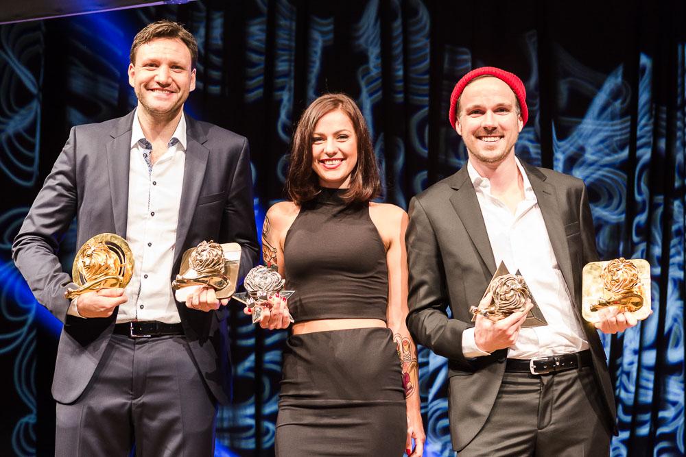 preisverleihung Curiohaus Eventfotografie Hamburg Gewinner auf Bühne